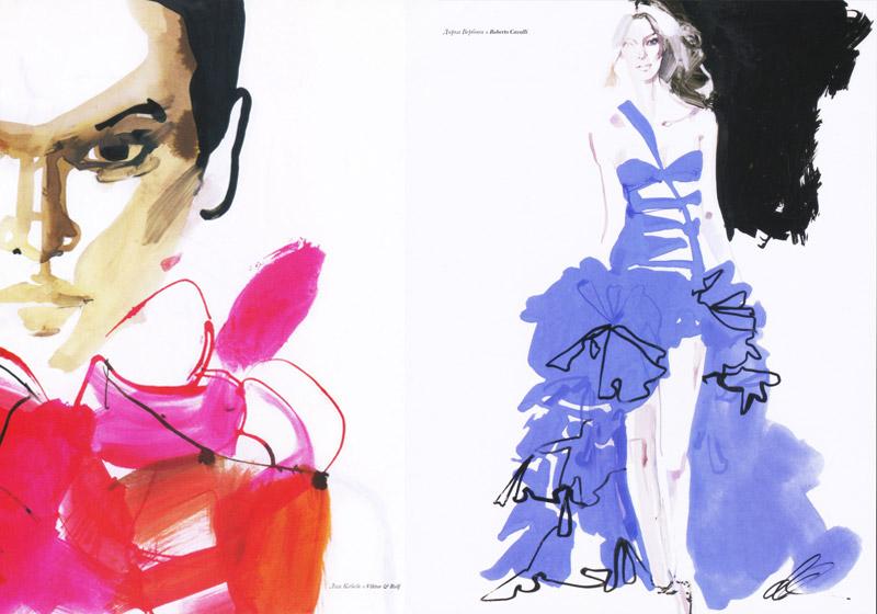 Editorial illustrations for L'OFFICIEL Russia, 2006