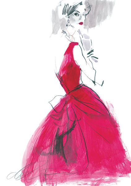 David Downton - Fashion Illustrator - Clients - V&A