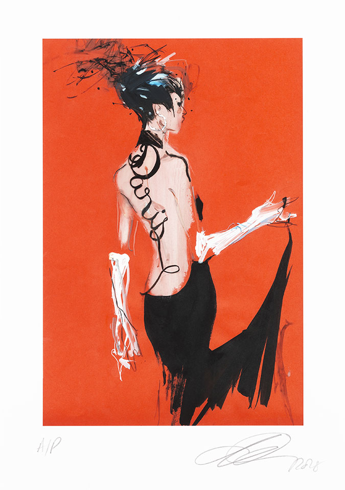 David Downton - Gaultier Paris AW2000