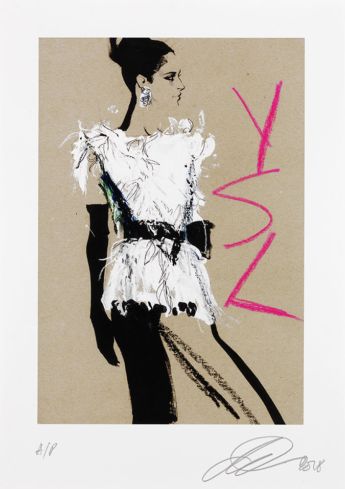 David Downton - Yves Saint Laurent Autumn/Winter 1999/2