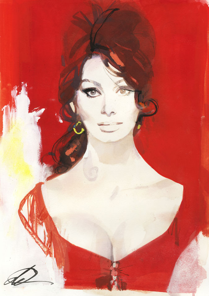 David Downton - Pop Up Shop - Sophia Loren 1