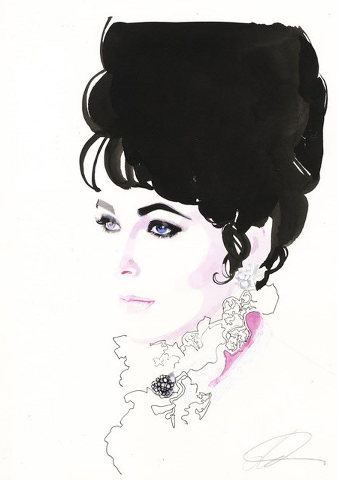 David Downton - Pop Up Shop - Elizabeth Taylor 1