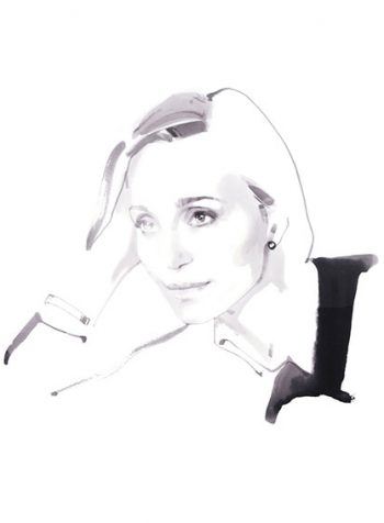 Kristin Scott Thomas, Claridges' January 2014