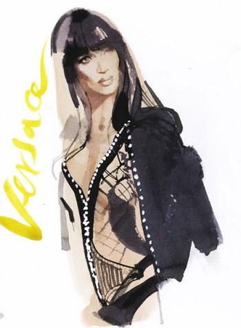 Naomi Campbell Versace Couture, 2013